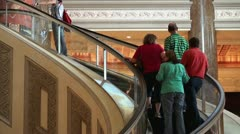 Escalator with a people at the shopping mall. Stock Footage