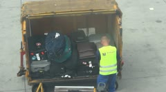 Luggage loading in Airplane - Full HD Stock Footage