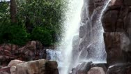 Powerful artificial waterfall Stock Footage
