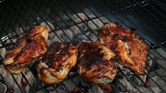 Barbeque chicken Stock Footage