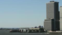 NYC skyline - stock footage