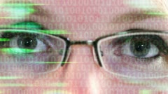 Digital Eye Strain Stock Footage