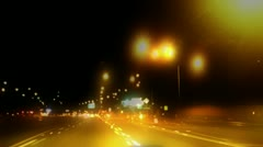 Night Driving Time Lapse Three Stock Footage