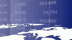 London and New York financial capitals Stock Footage
