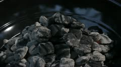 white hot barbeque coals - stock footage