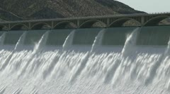 Grand Coulee Hydroelectric Dam cu 02 - stock footage