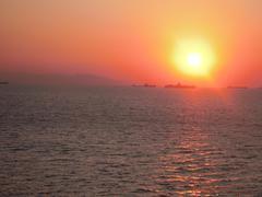 DSCN1426 Mediterranean Sunset.jpg Stock Photos