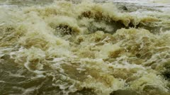 Waterfall in a river 4 Stock Footage