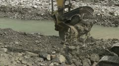 Backhoe at work - stock footage