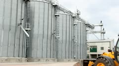 Agricultural Silo Stock Footage