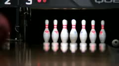 Bowling Strike slow motion - stock footage