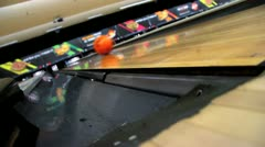 Bowling Wide Angle Stock Footage