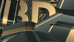 3d gold text Stock Footage