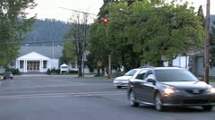 720p Traffic at Stop Light Stock Footage
