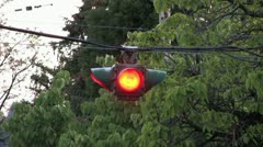 1440 Close Up Traffic Light Stock Footage