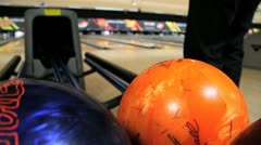 Bowling Ball Return Stock Footage