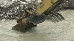 Backhoe at work Stock Footage