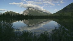 Mount Rundle TL 02 Stock Footage
