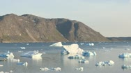 Stock Video Footage of Icebergs outside of Narsaq