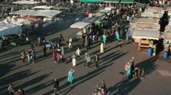 Jemma el-Fnaa, Marrakech, Morocco Stock Footage