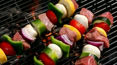 Meat shish kebob Stock Footage