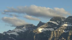Mt Rundle peaks TL Stock Footage
