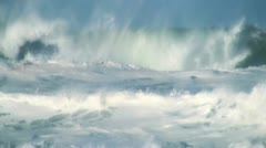 Stock Video Footage of Ocean bigs waves