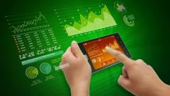 Touchscreen business concept Stock Footage