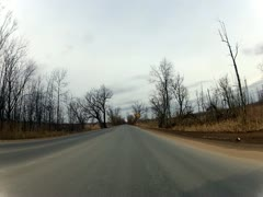 Driving Car on Roads, Rural Streets, or Highways Stock Footage