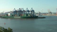 Hamburg - Container terminal Stock Footage