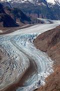 Salmon Glacier Canada verticle - stock photo