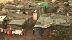 A squatter camp Stock Footage