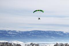 Powered Parachute winter Stock Photos