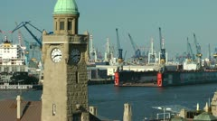 St. Pauli Landing Stages, Hamburg - stock footage