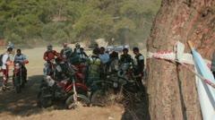 motocross race 16 - stock footage