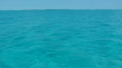 Clear water of caribbean sea near Cayo Largo, Cuba Stock Footage