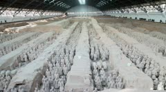 Terra Pit 1 Musuem in Xian Wide angle shot Stock Footage