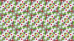 Kaleidoscope Background Footage ver4 straight flags Stock Footage