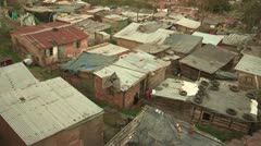 A close-up of informal settlement Stock Footage