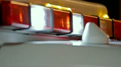Ambulance Lights Close-Up Stock Footage