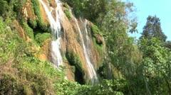 Waterfalls in Topes de Collantes, Cuba Stock Footage