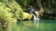 Natural pool in Topes de Collantes, Cuba Stock Footage
