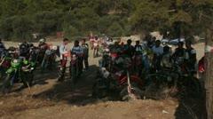 motocross race 15 - stock footage