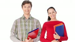 Happy students standing together with fun - stock footage