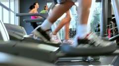 Gym Members Keeping Fit Stock Footage