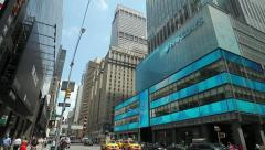 Barclays office building in New York City tilt down 30p Stock Footage