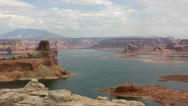 Stock Video Footage of Lake Powell and Gunsight Butte, Utah (timelapse)