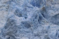 Glacier soft melting snow and ice blue Stock Photos