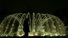 Fountain With Light Show (Parque de los aquas) Stock Footage