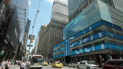 Barclays office building in New York City tilt down 25p Stock Footage